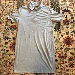 Gray ASOS dress w/collar, lots of stretch